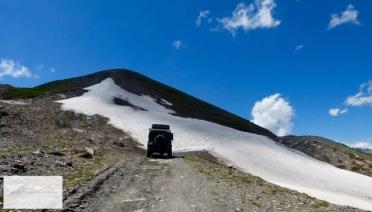 Bei diesem Schneefeld war die Fahrt dann zu Ende.